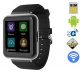 Часы смартфон Q1 (Android 5.1; 3G; Wi-Fi; GPS; 1GB-RAM; 8GB-ROM)