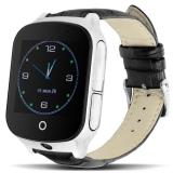 T100 умные часы с GPS-трекером  черные (OC Android)