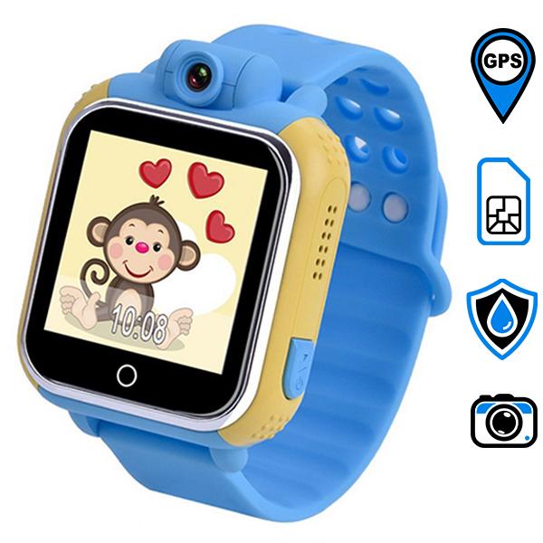 GW1000 детские часы с GPS-трекером ОРИГИНАЛ (голубые)
