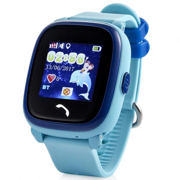 GW400S детские часы с GPS-трекером водонепроницаемые ОРИГИНАЛ (голубые)