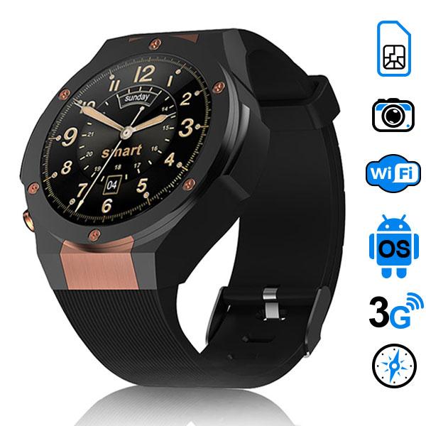HERCULES H2 часы смартфон (Android 5.1, WiFi, 3G, GPS)