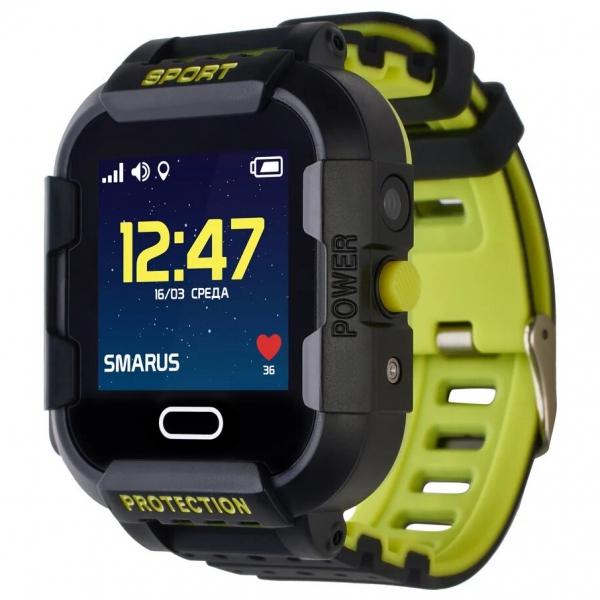 GPS часы SMARUS kids K6 черные (противоударные и водостойкие)