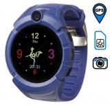 Q360 детские часы с GPS-трекером ОРИГИНАЛ (темно-синие)