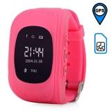 Детские часы с GPS-трекером Q50 ОРИГИНАЛ (розовые)