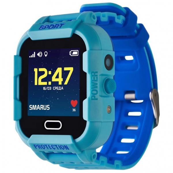 GPS часы SMARUS kids K6 синие (противоударные и водостойкие)