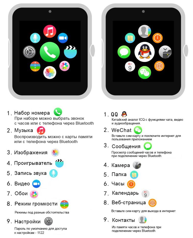15ede01a9771 Q7 умные часы телефон (поддержка iphone и android) черные